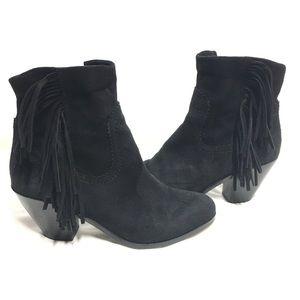 Sam Edelman Louie Black Leather Ankle Boots Size 7